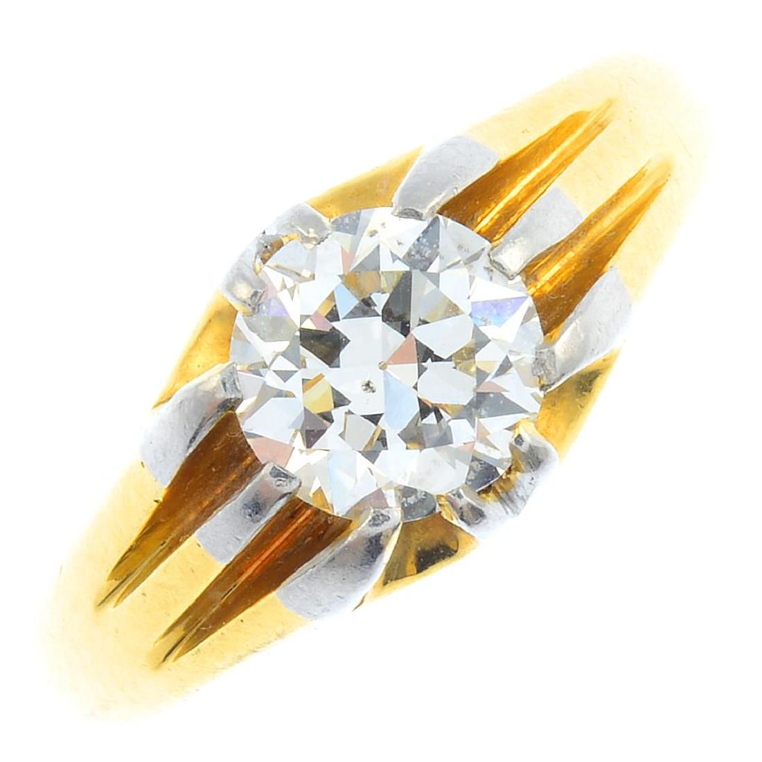 An early 20th century 18ct gold and platinum, diamond