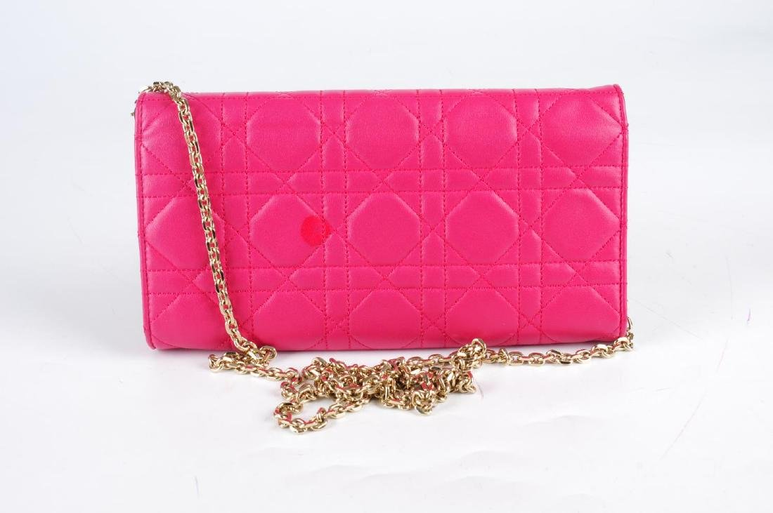 CHRISTIAN DIOR - a Cannage Miss Dior Wallet On Chain - 2
