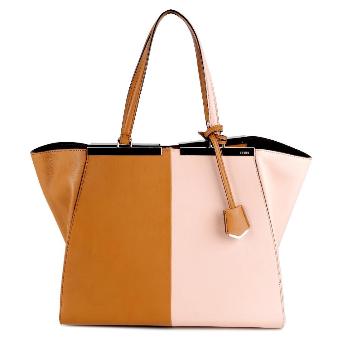 FENDI - a leather bicolour 3Jours handbag. Designed