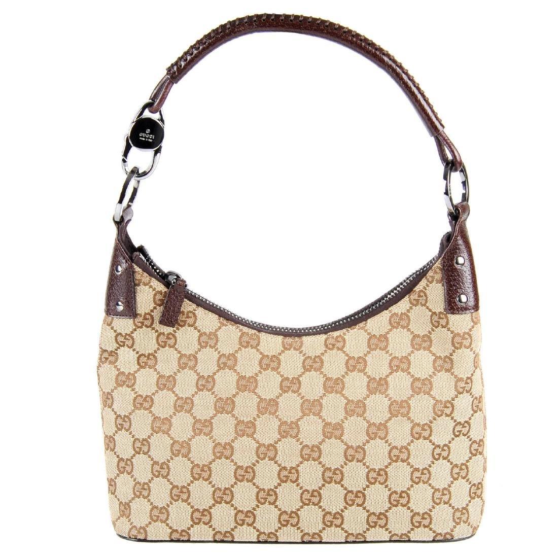 GUCCI - a Monogram canvas handbag. Designed with