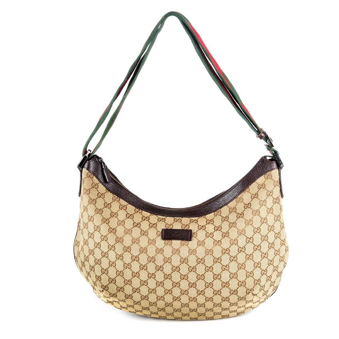 GUCCI - a Monogram Web messenger handbag. Crafted from
