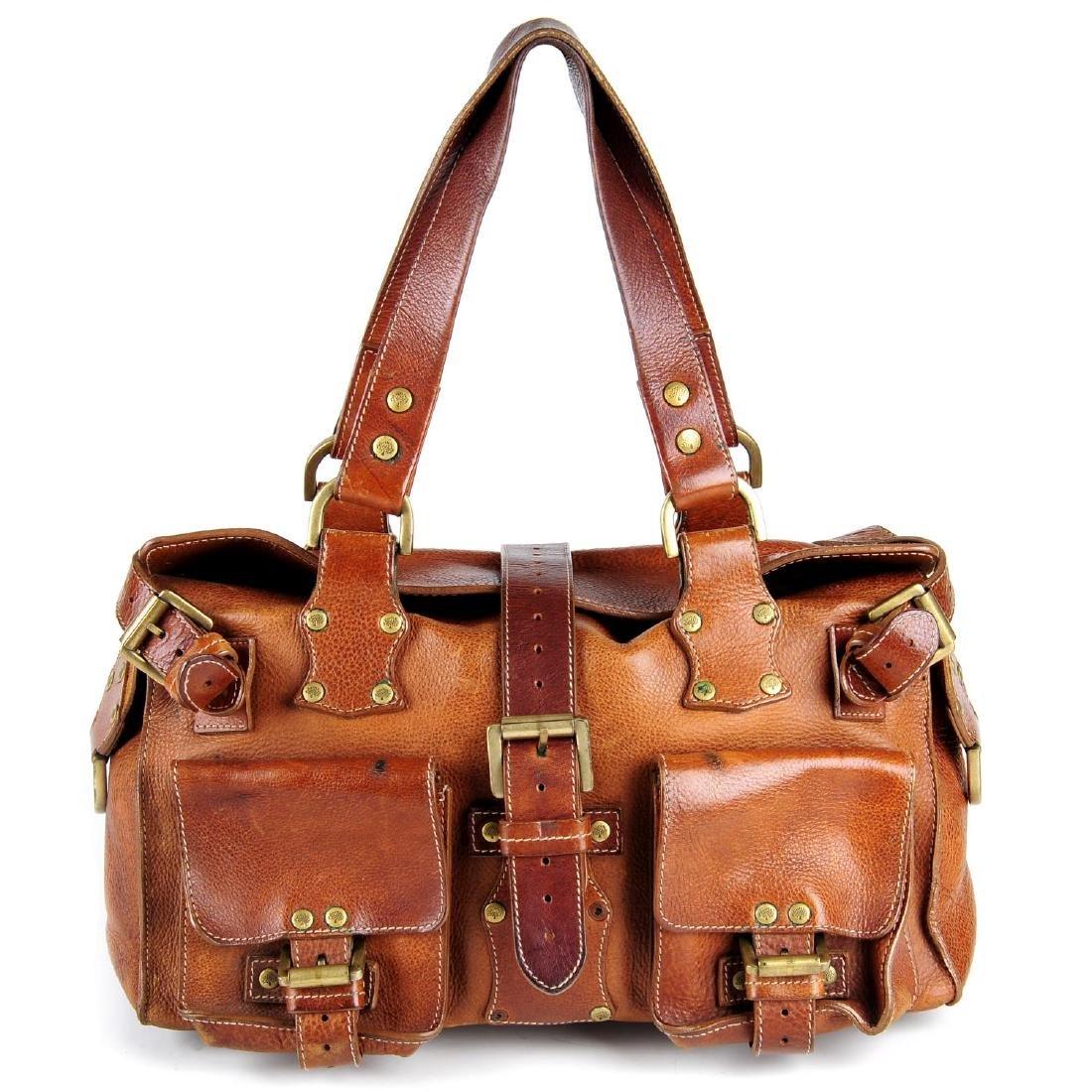 MULBERRY - an oak leather Roxanne handbag. With dual