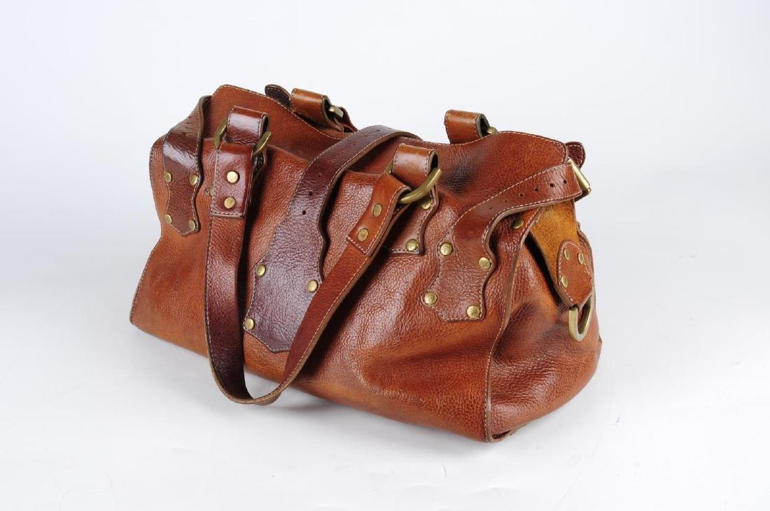 MULBERRY - an oak leather Roxanne handbag. With dual - 2