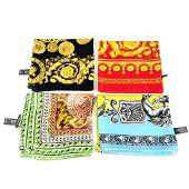 VERSACE - four scarves. To include a lime green and