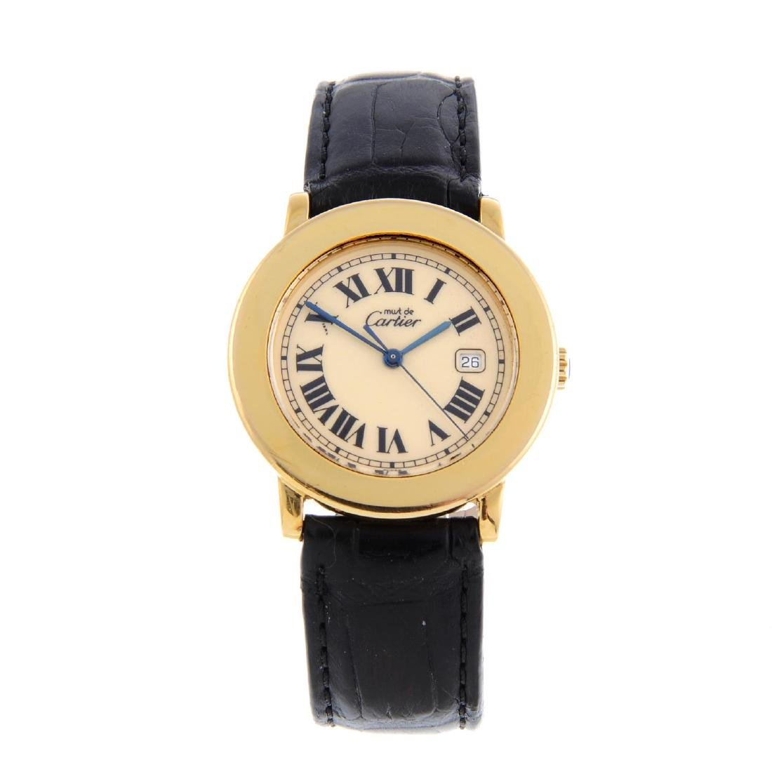 CARTIER - a Must de Cartier Ronde wrist watch. Gold