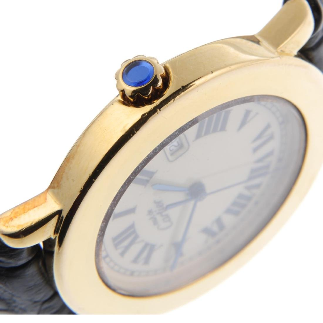 CARTIER - a Must de Cartier Ronde wrist watch. Gold - 3