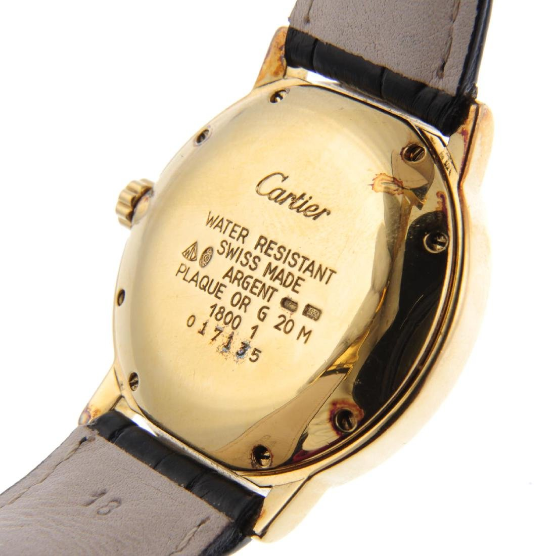 CARTIER - a Must de Cartier Ronde wrist watch. Gold - 4