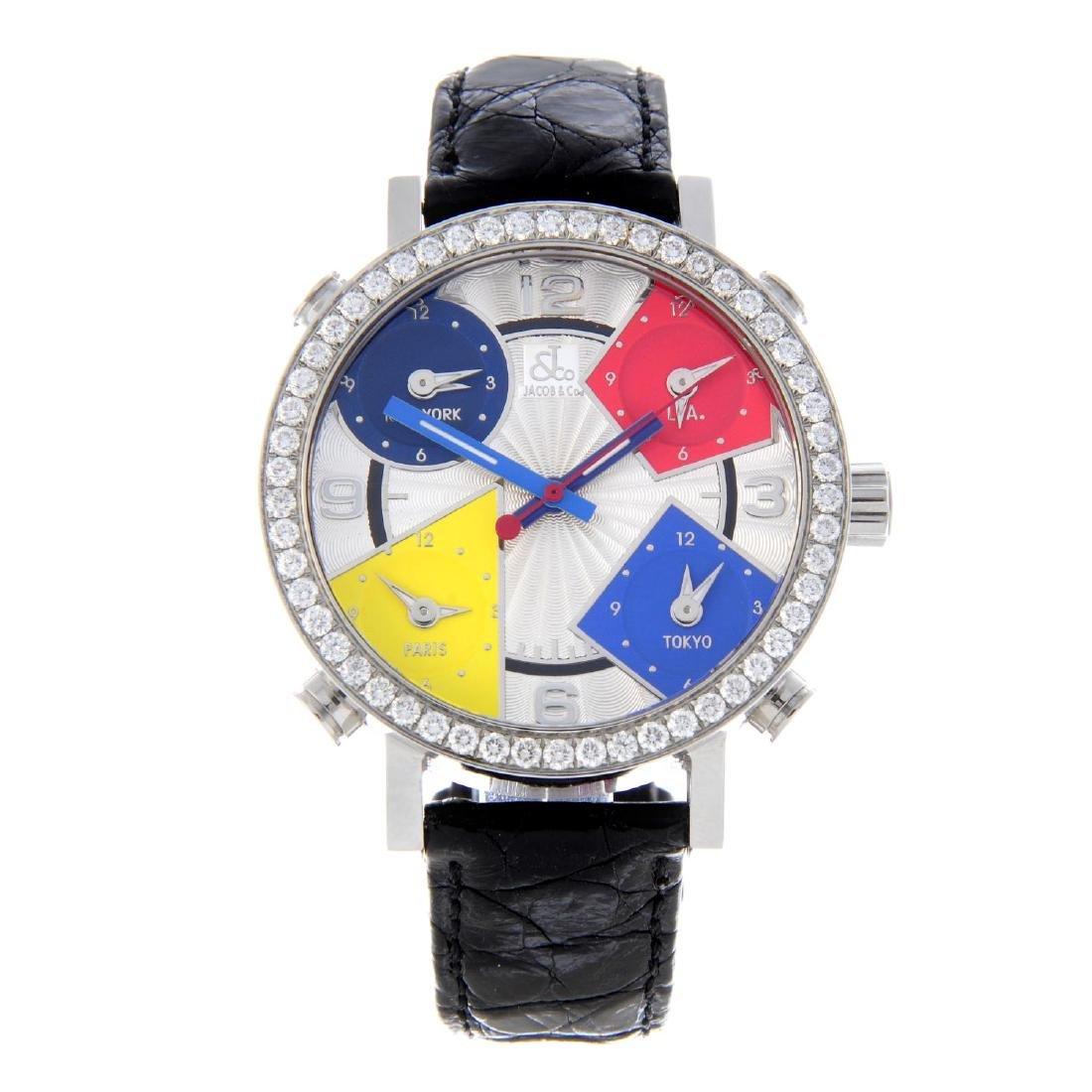 JACOB & CO. - a mid-size Five Time Zone wrist watch.