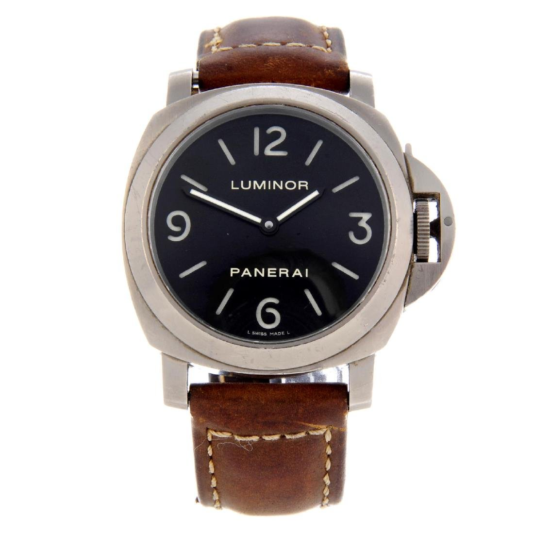 PANERAI - a gentleman's Luminor wrist watch. Circa