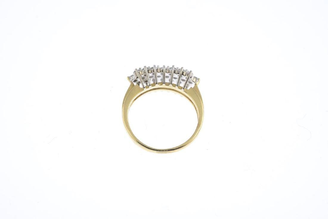 An 18ct gold diamond dress ring. The brilliant-cut - 2