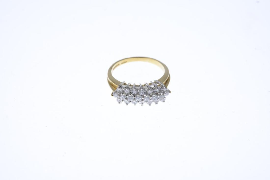 An 18ct gold diamond dress ring. The brilliant-cut - 3