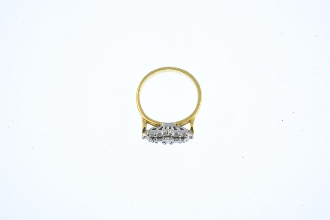 An 18ct gold diamond dress ring. The alternating - 3