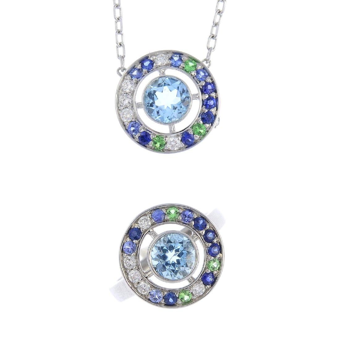 BOUCHERON - a group of diamond and gem-set 'Ava'