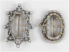Two nineteenth century paste buckles the first of