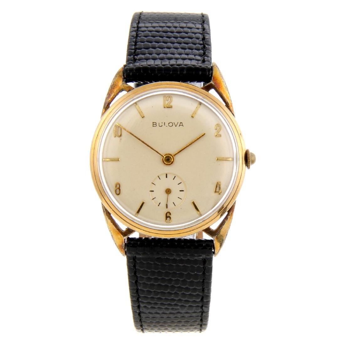 BULOVA - a gentleman's wrist watch. Rolled gold case.