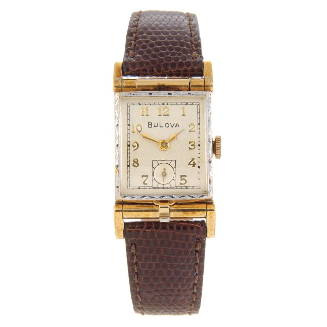 BULOVA - a mid-size wrist watch. Rolled gold case.