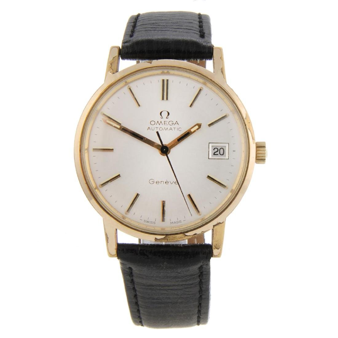 OMEGA - a gentleman's Genève wrist watch. Gold plated
