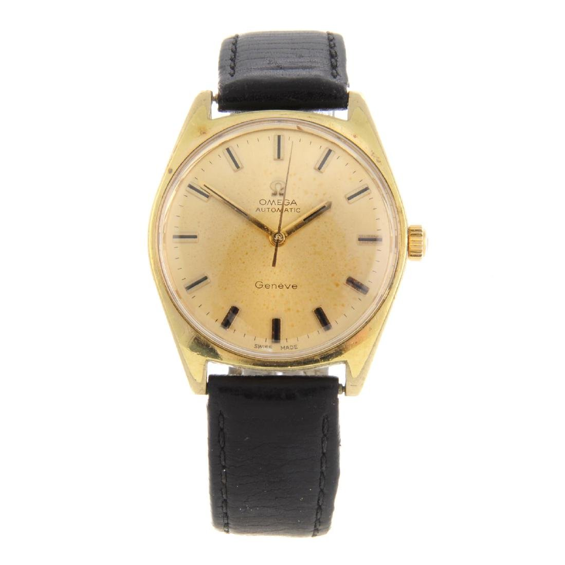 OMEGA - a gentleman's Genève wrist watch. Gold plated