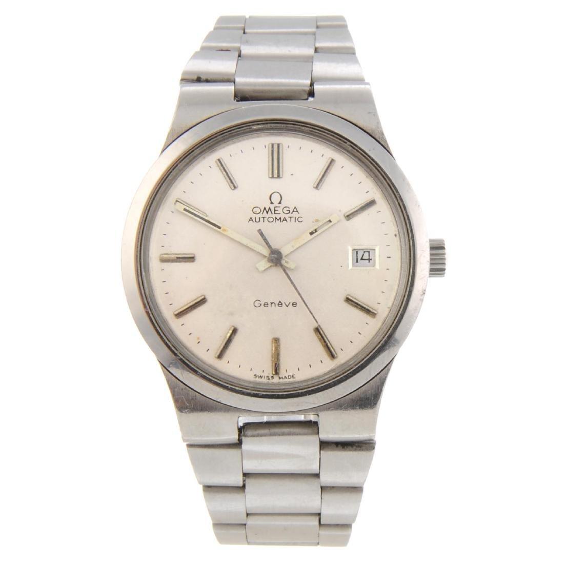 OMEGA - a gentleman's Genève bracelet watch. Stainless