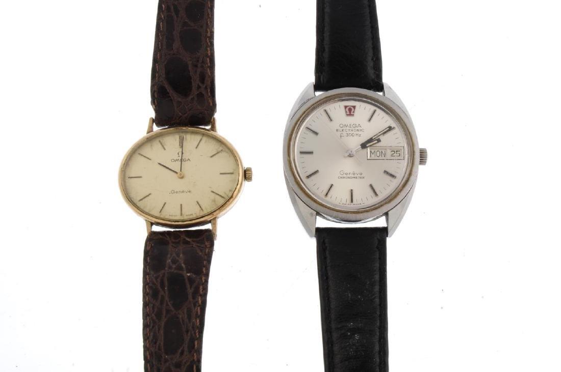 OMEGA - a gentleman's Genève bracelet watch. Stainless - 4