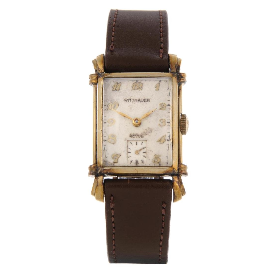 WITTNAUER - a wrist watch. Gold filled case with