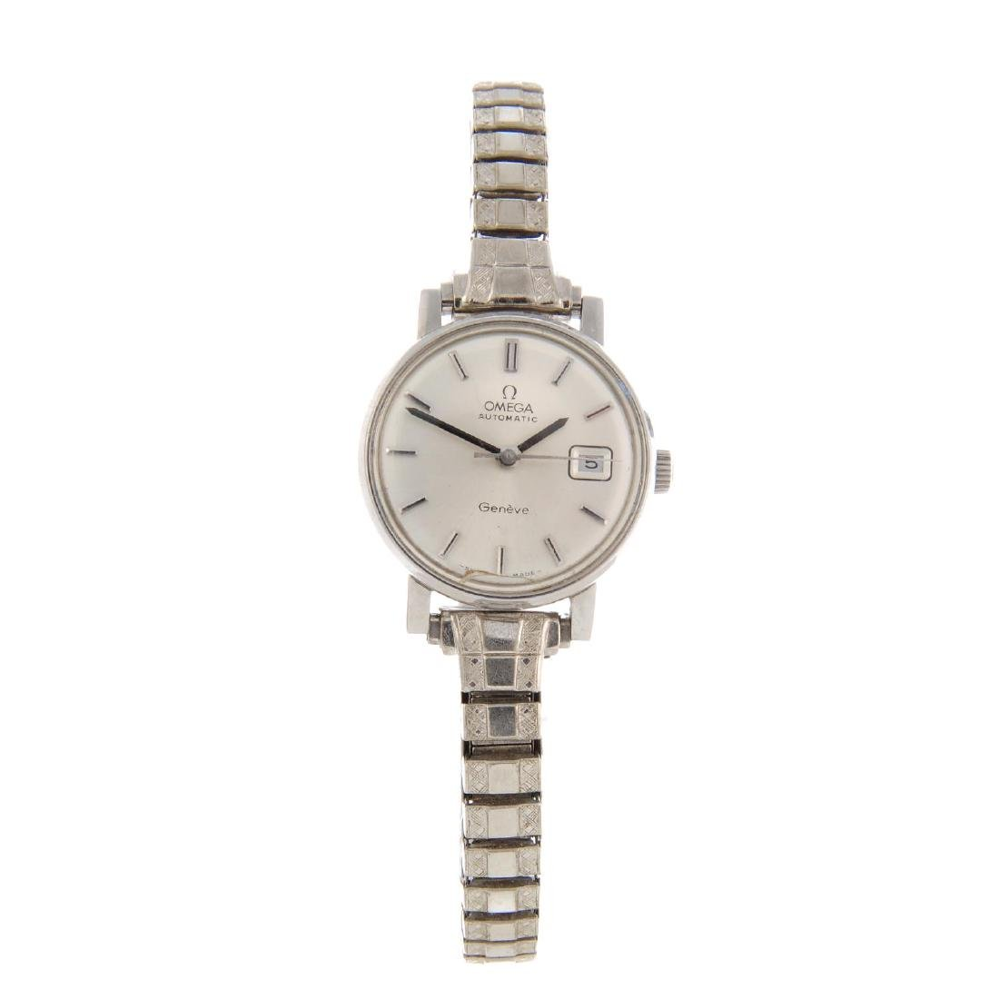 OMEGA - a lady's Genève bracelet watch. Stainless steel