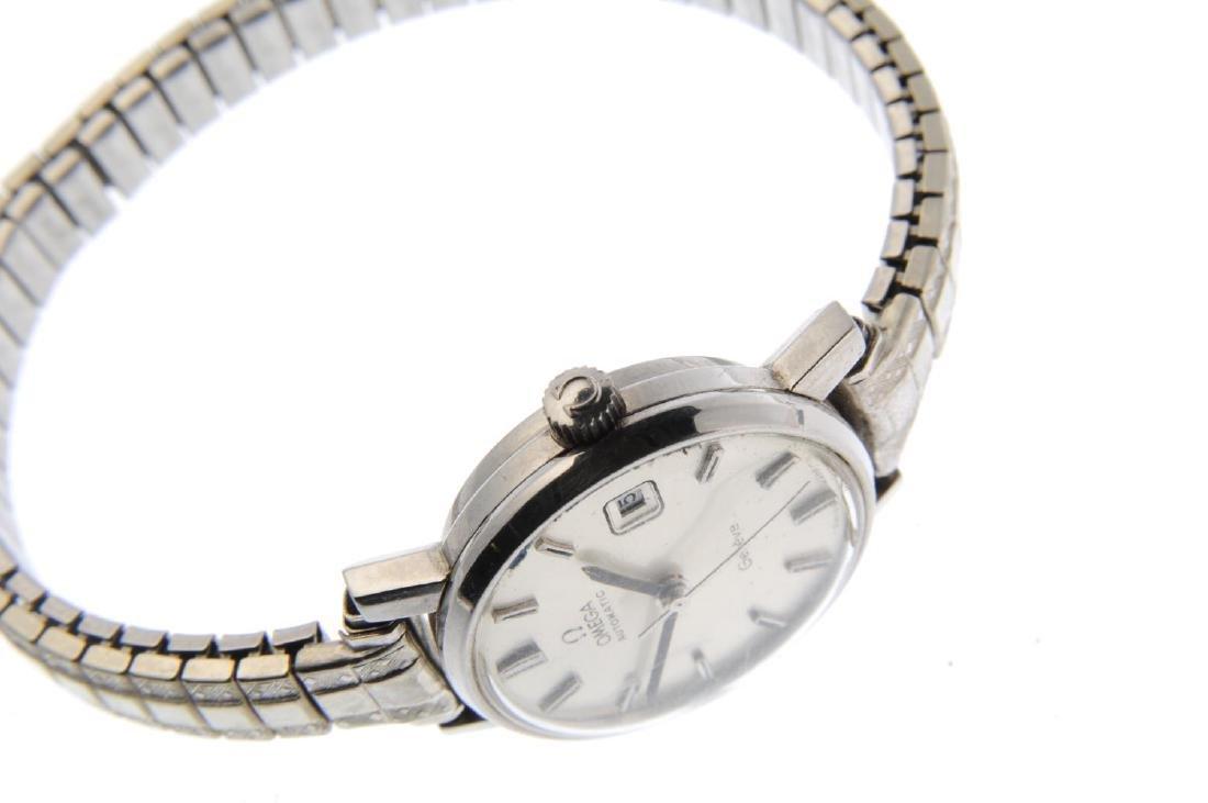 OMEGA - a lady's Genève bracelet watch. Stainless steel - 3