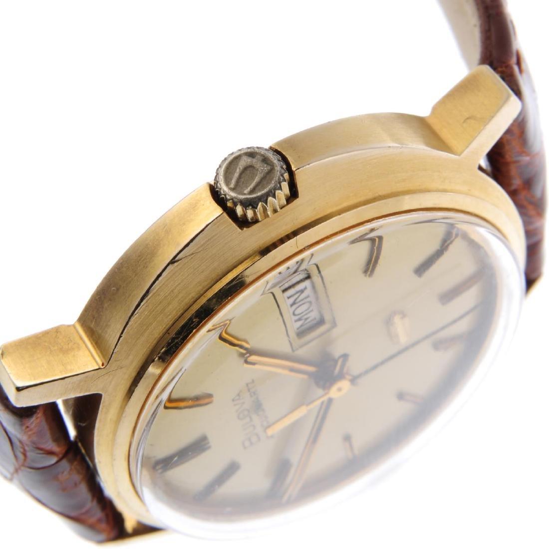BULOVA - a gentleman's Accuquartz wrist watch. 9ct - 4