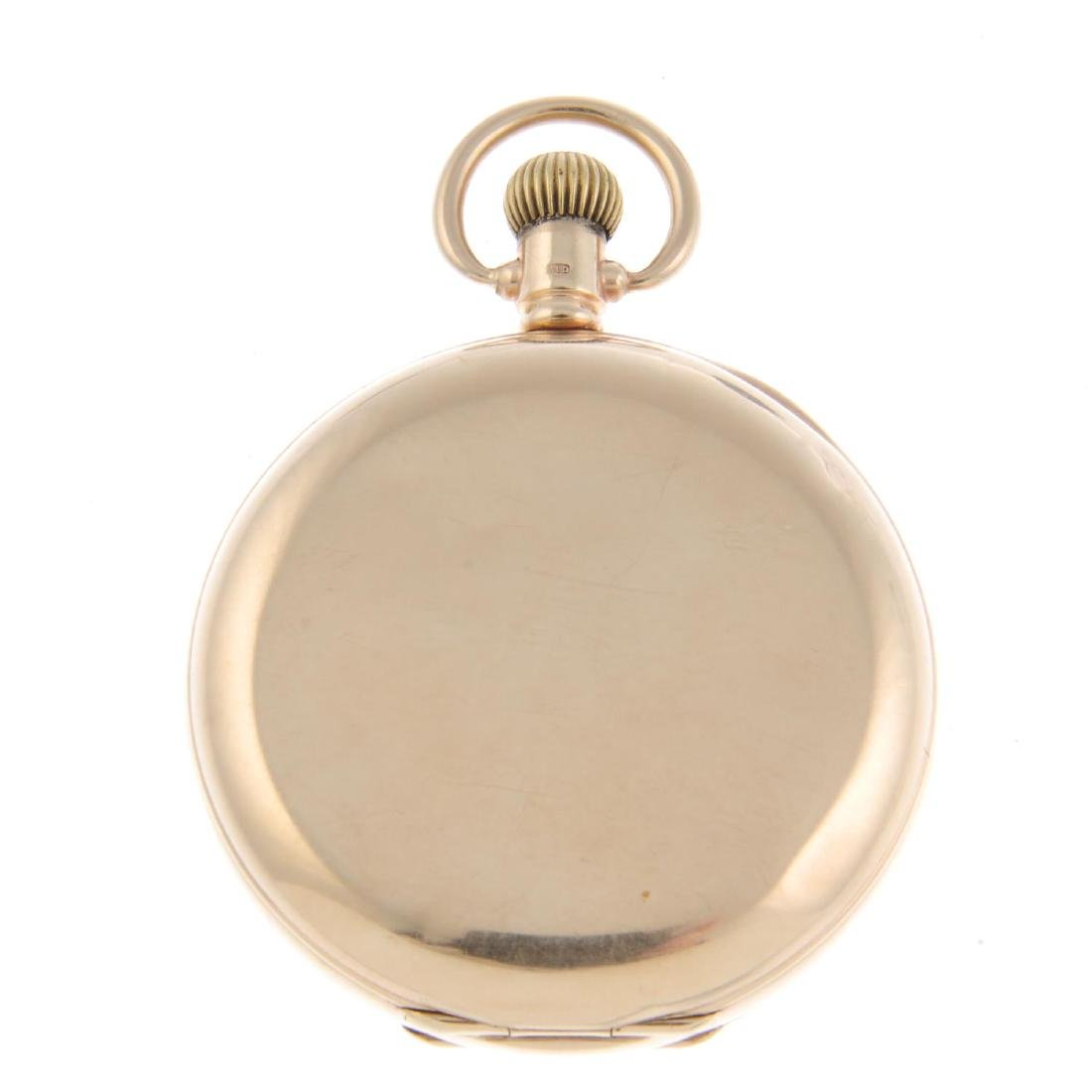 A full hunter pocket watch by Waltham. 9ct yellow gold - 4