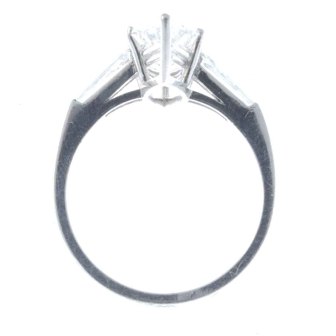 A diamond single-stone ring. Designed as a - 2