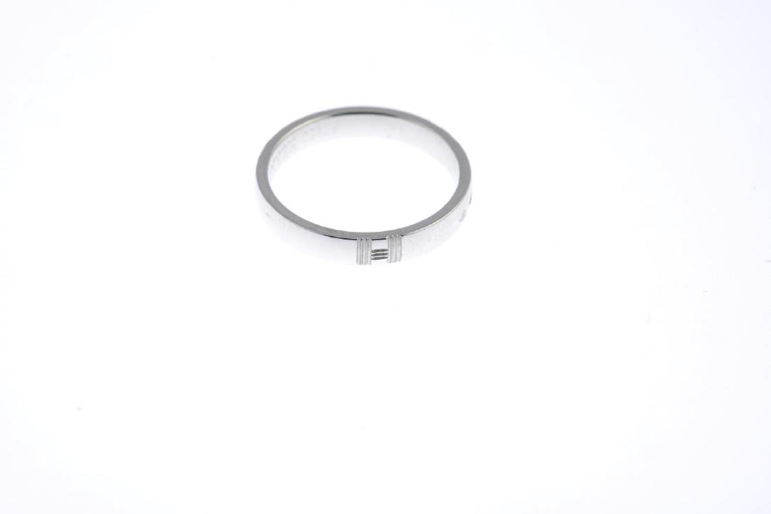 HERMES - a platinum band ring. The plain band, with - 2