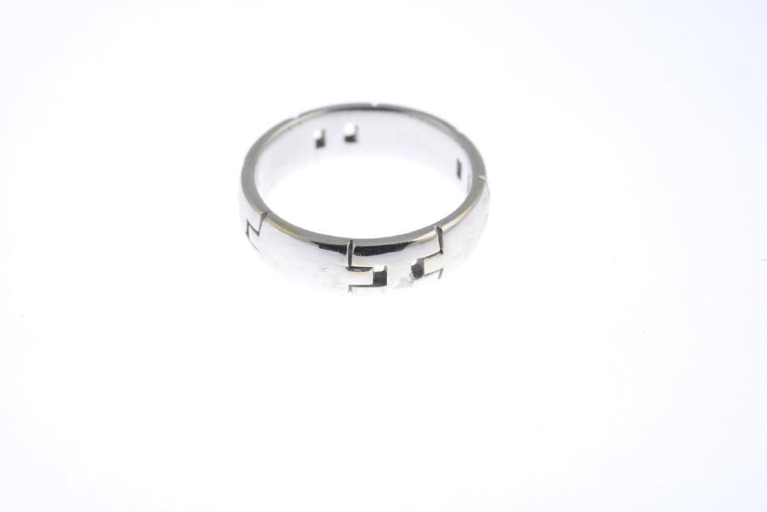 HERMES - a 'H' band ring. Designed as a wide band, with - 2