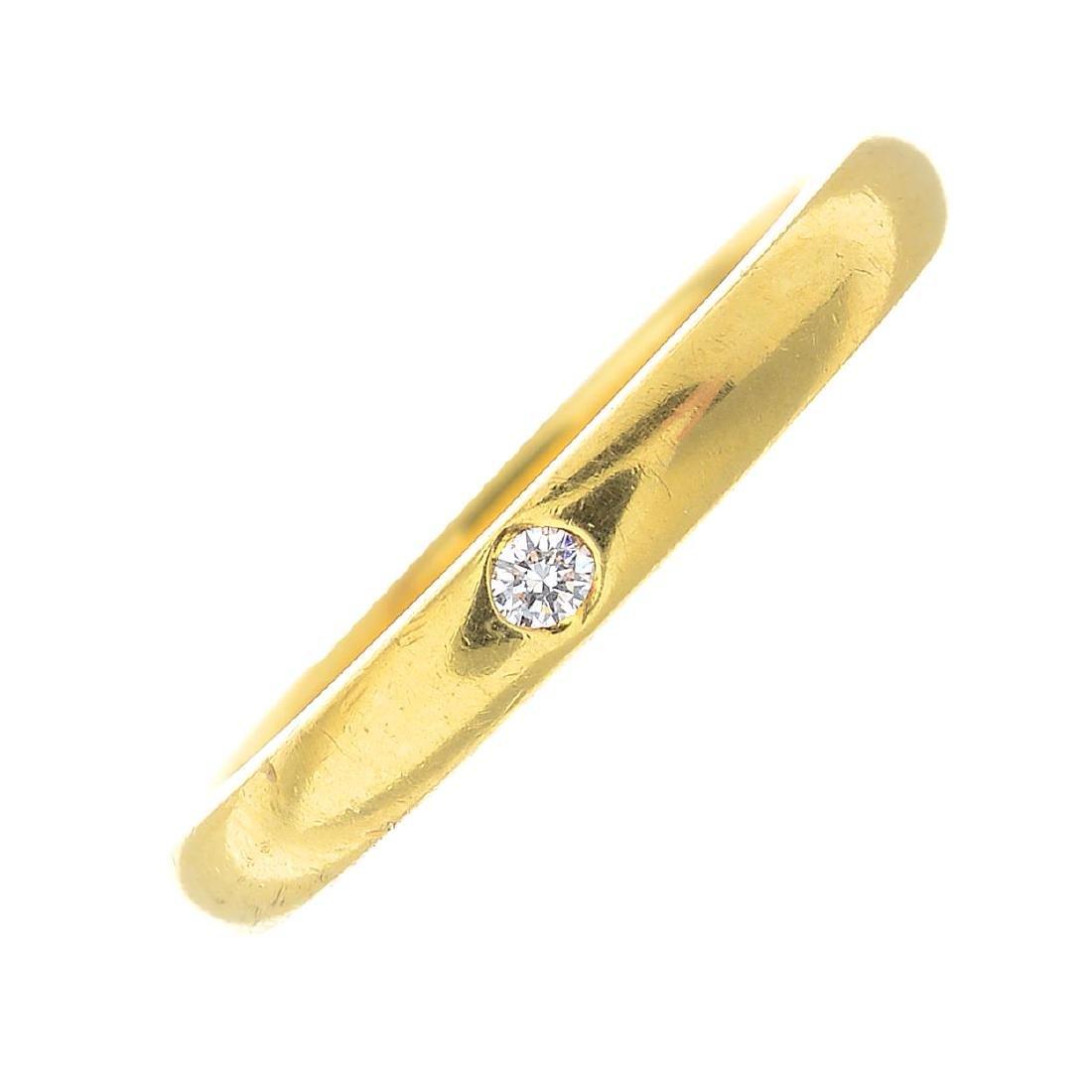 TIFFANY & CO. - a diamond band ring. The brilliant-cut
