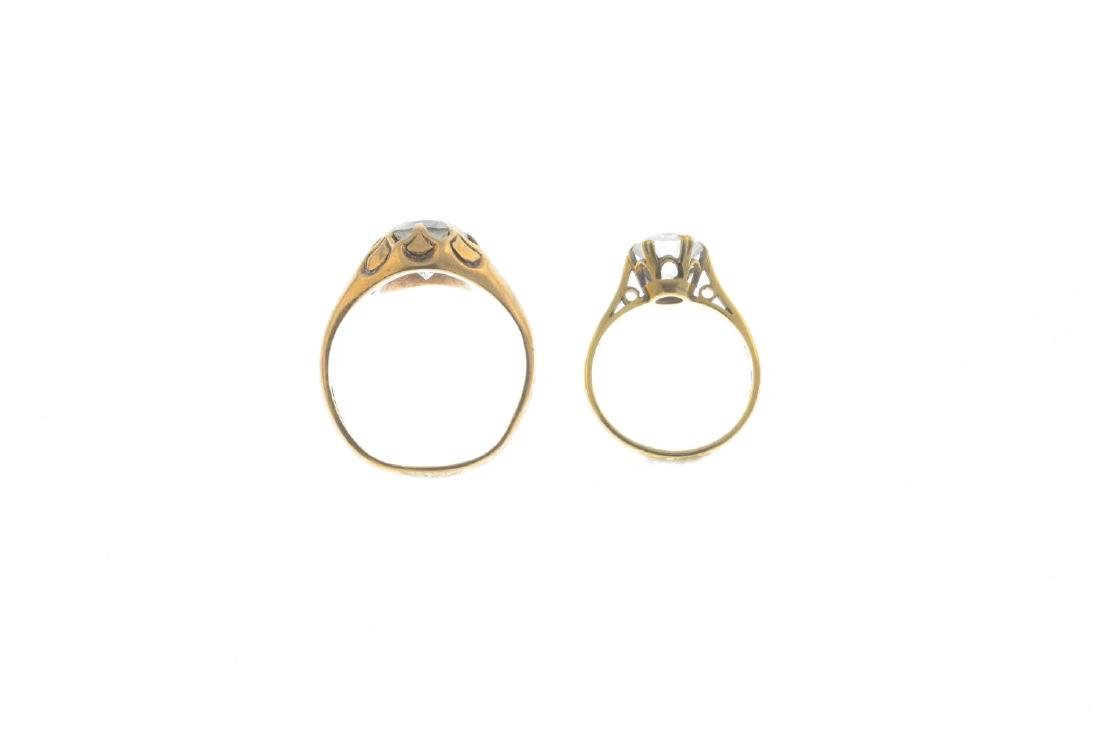 Two 9ct gold cubic zirconia rings. To include a - 2