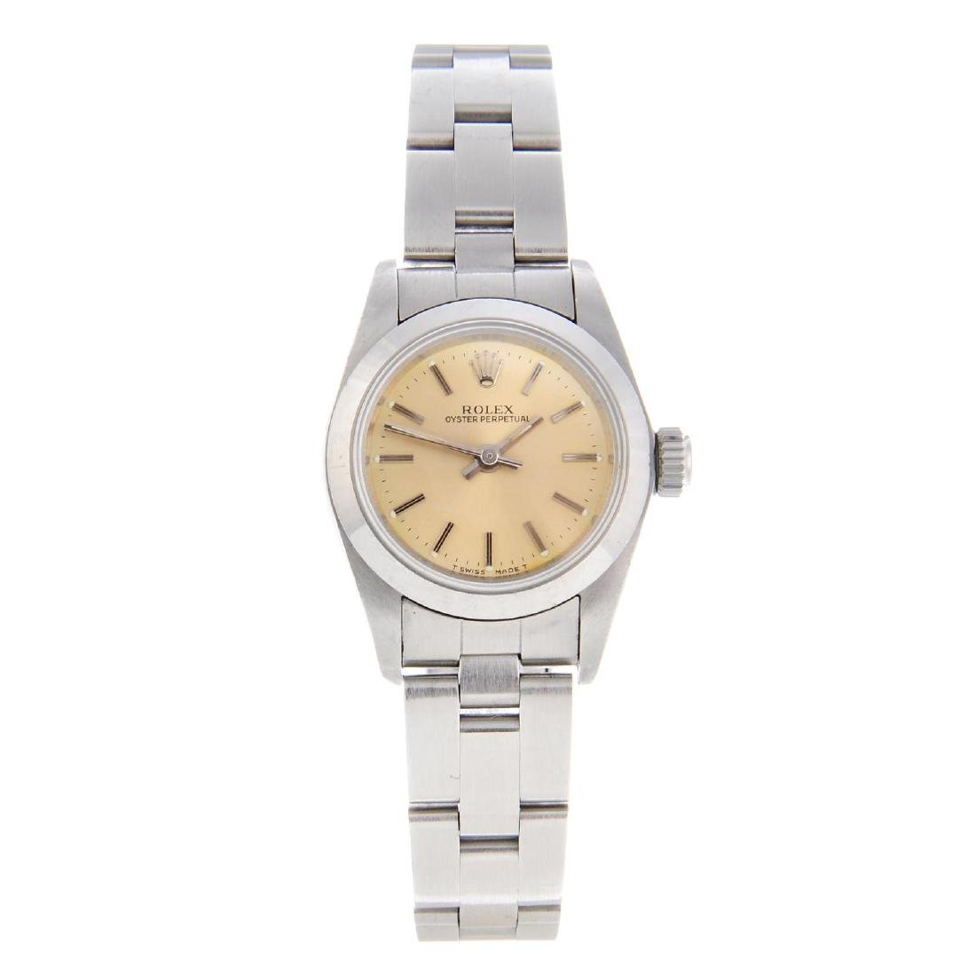 (53833) ROLEX - a lady's Oyster Perpetual bracelet