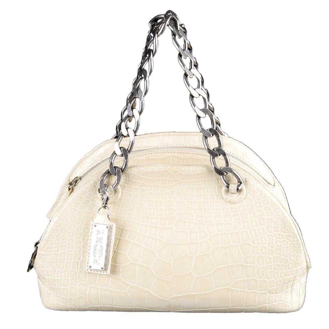 8404df68b145 CHANEL - a Paris New York Alligator Bowling handbag.