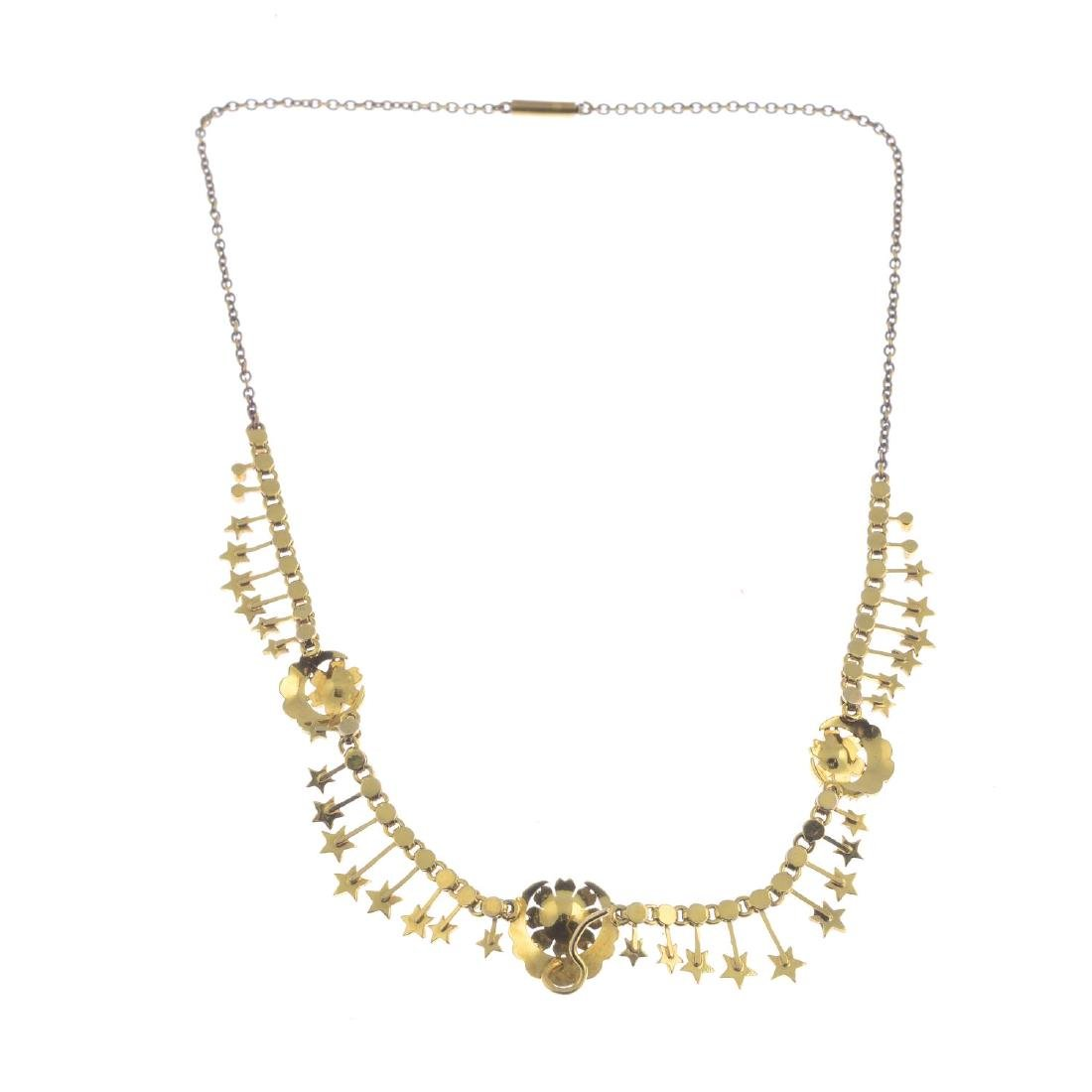 An early 20th century gold split and seed pearl - 3