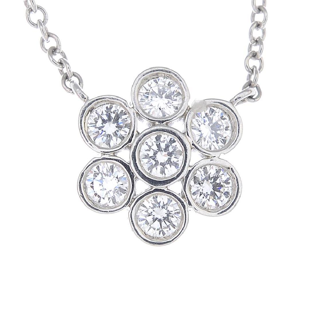 TIFFANY & CO. - a diamond 'Enchant' cluster necklace.