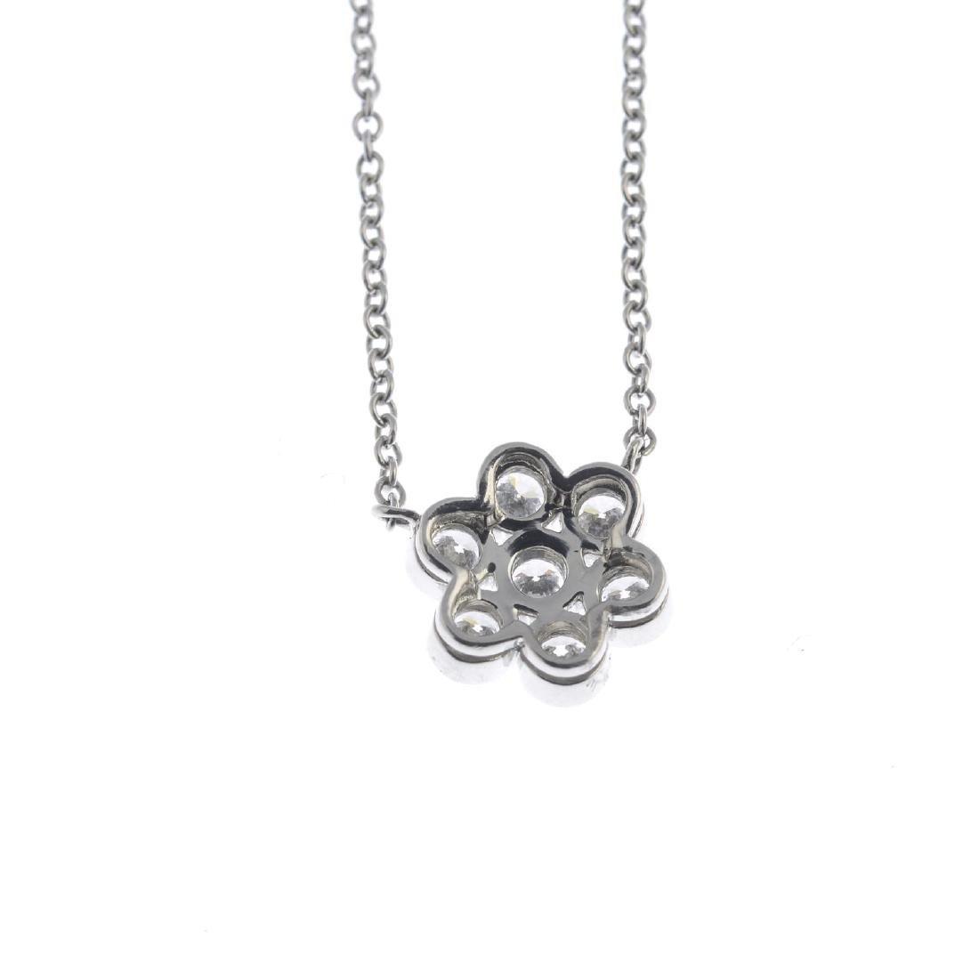 TIFFANY & CO. - a diamond 'Enchant' cluster necklace. - 2
