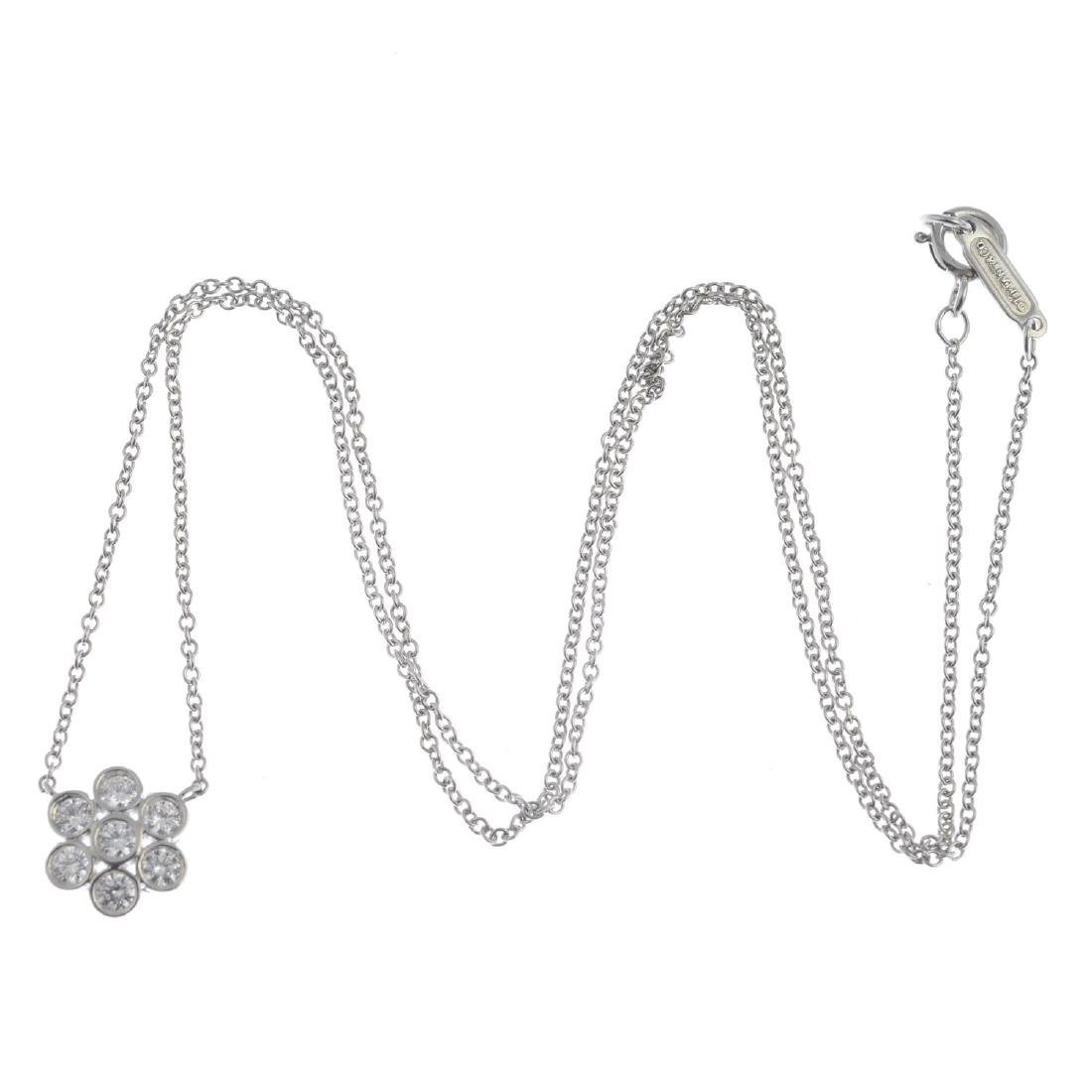 TIFFANY & CO. - a diamond 'Enchant' cluster necklace. - 3
