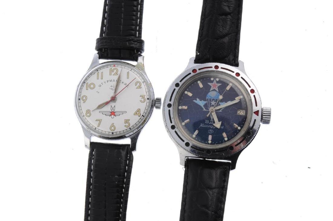 STRELA - a gentleman's chronograph wrist watch. Nickel - 2