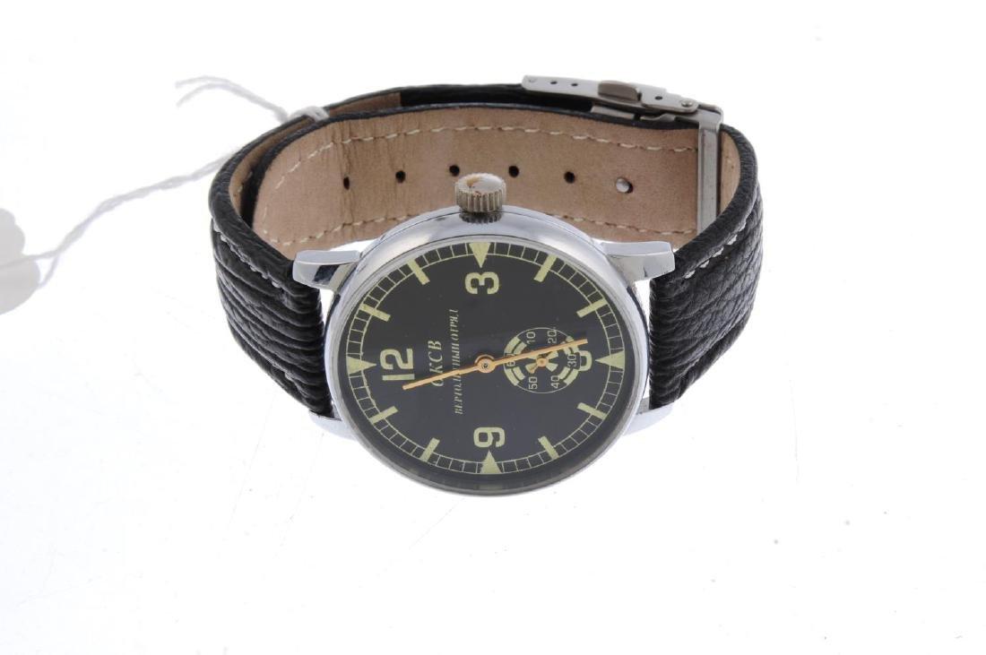 STRELA - a gentleman's chronograph wrist watch. Nickel - 3