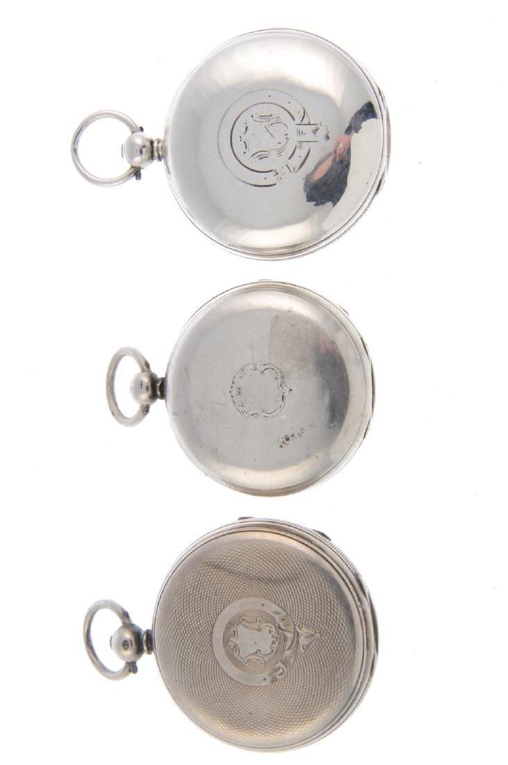 An open face pocket watch. Silver case, hallmarked - 3
