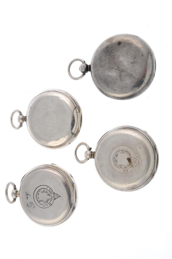 A group of four assorted silver pocket watches. All - 2