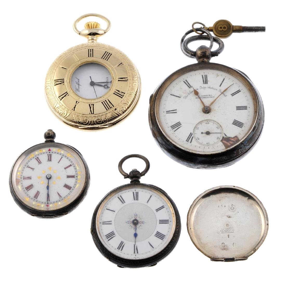 A group of four assorted pocket watches, to include