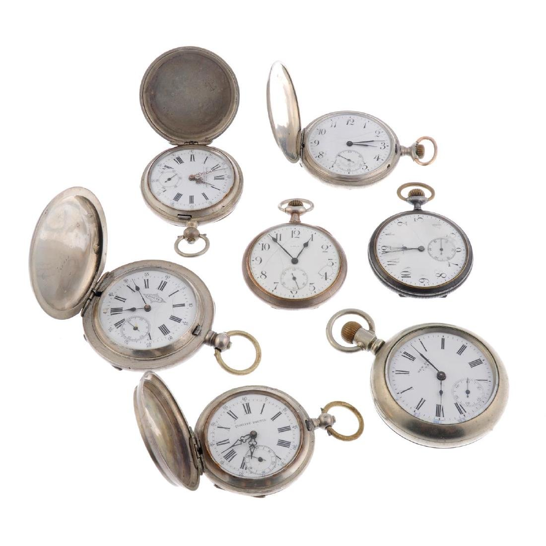 A group of seven assorted pocket watches, to include an