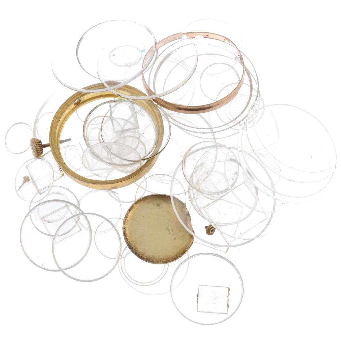 A quantity of assorted watch and pocket watch parts, to