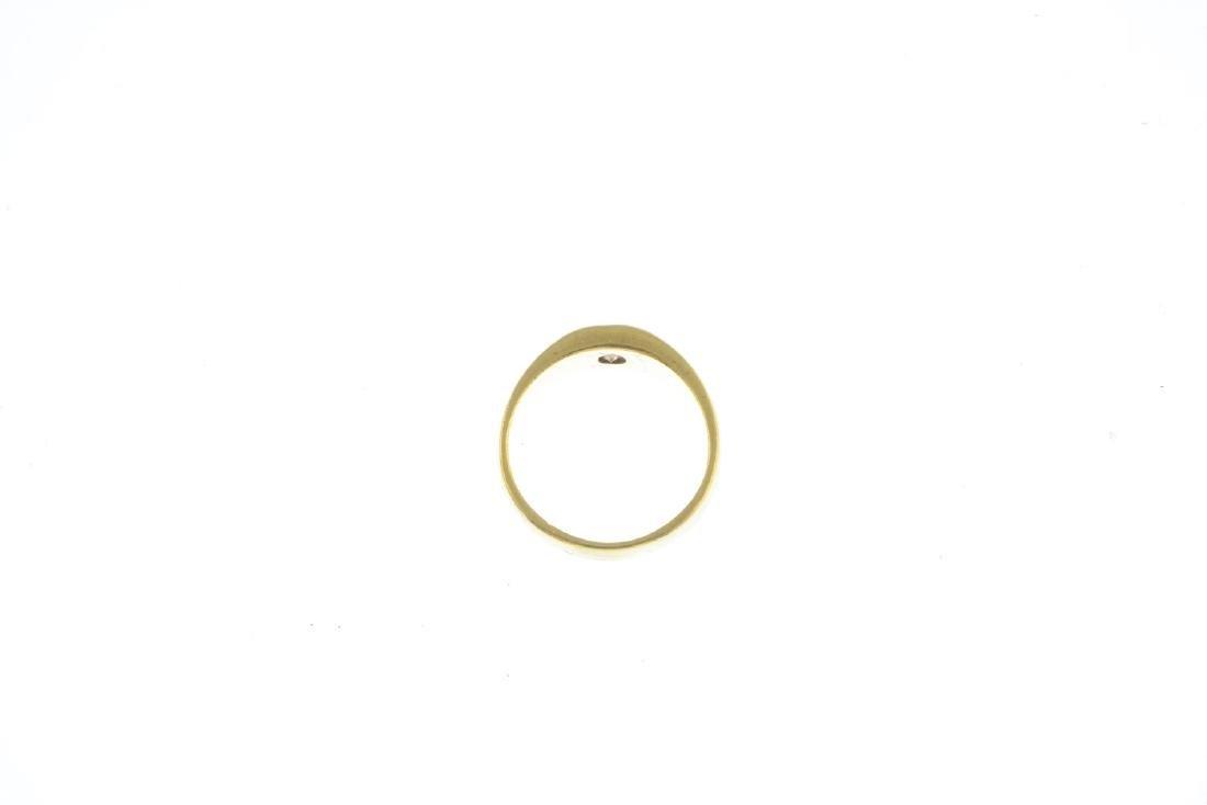 A diamond band ring. The brilliant-cut diamond, inset - 2