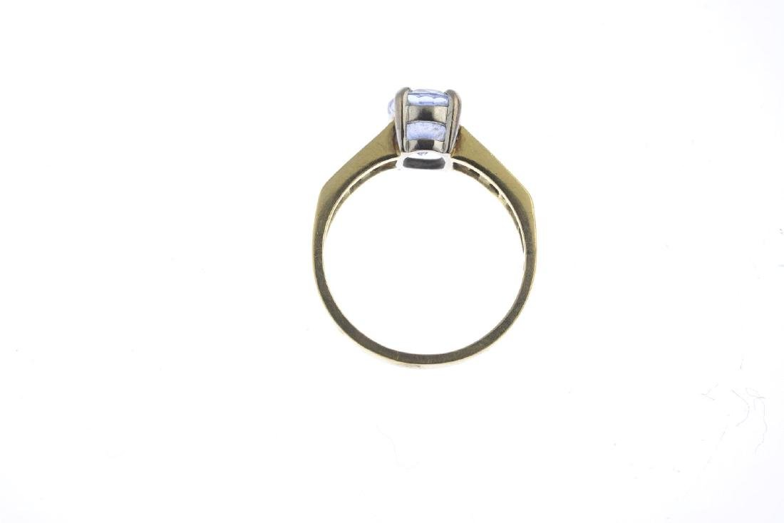 An 18ct gold sapphire and diamond dress ring. The - 3