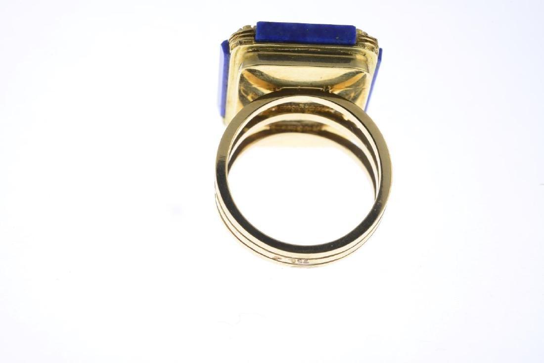 A lapis lazuli and rhodochrosite dress ring. Designed - 3